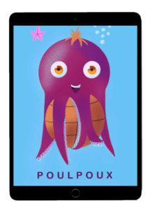 Présentation d'une illustration poulpe - portfolio